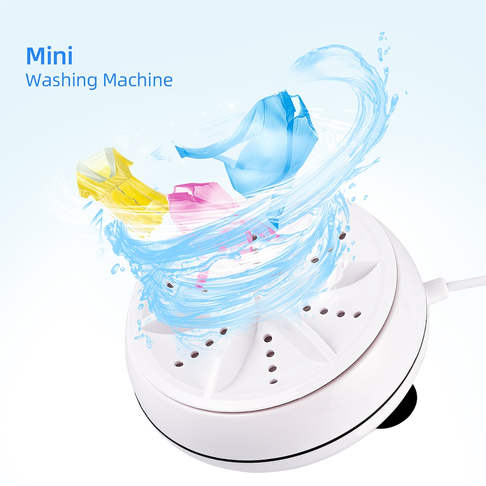 Protable Mini Washing Machine Turbo Personal Air Bubble Fotating Washer Convenient for Travel Business Trip Ultrasonic Washer