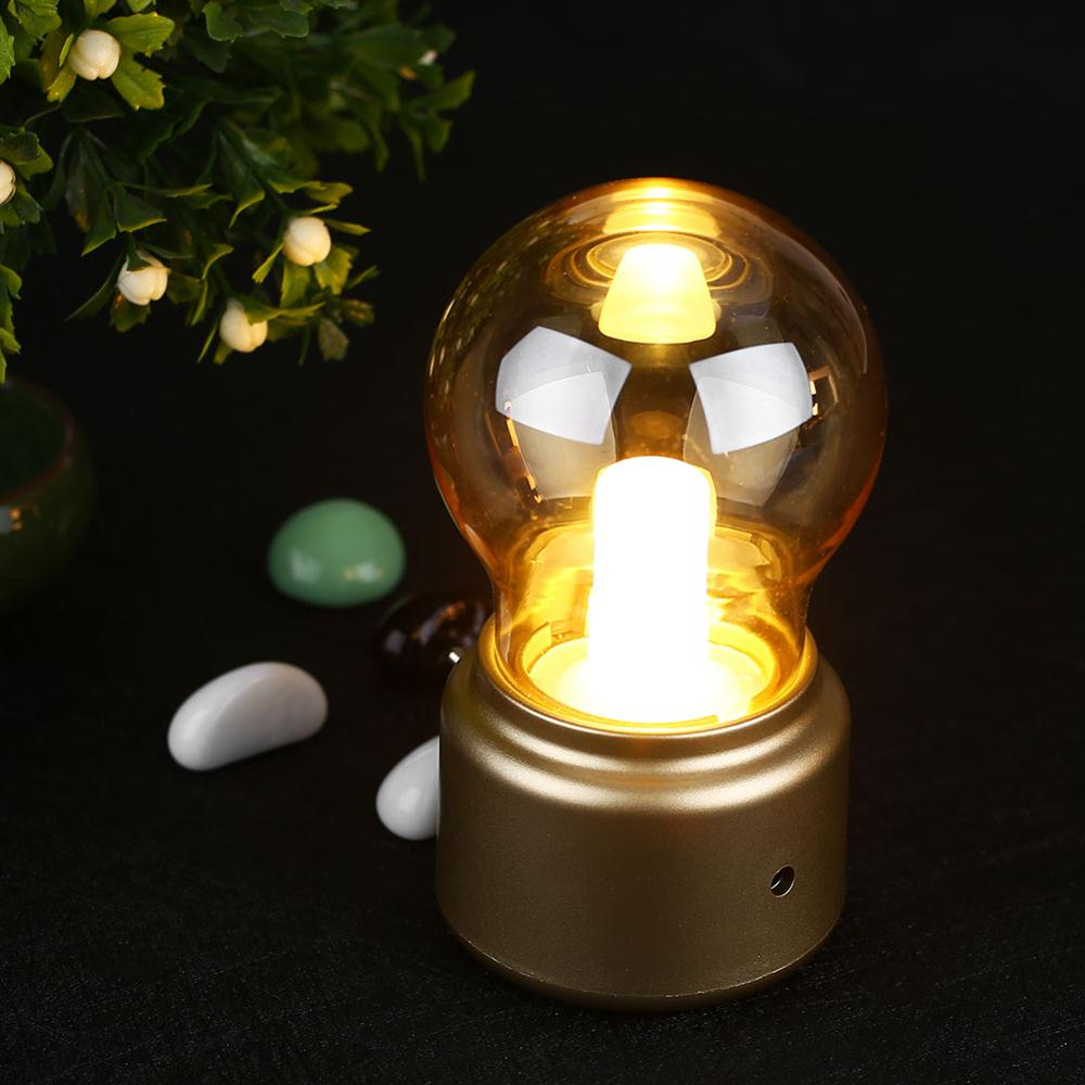 Led Night Lamp bulb Classical blowing desk lamp decoration light Retro USB Rechargeable Night Light Desk Table LED Lamp Party led retro bulb iron wine bottle table wine bottle copper wire night light creative hotel desk lamp night lamp home decoration