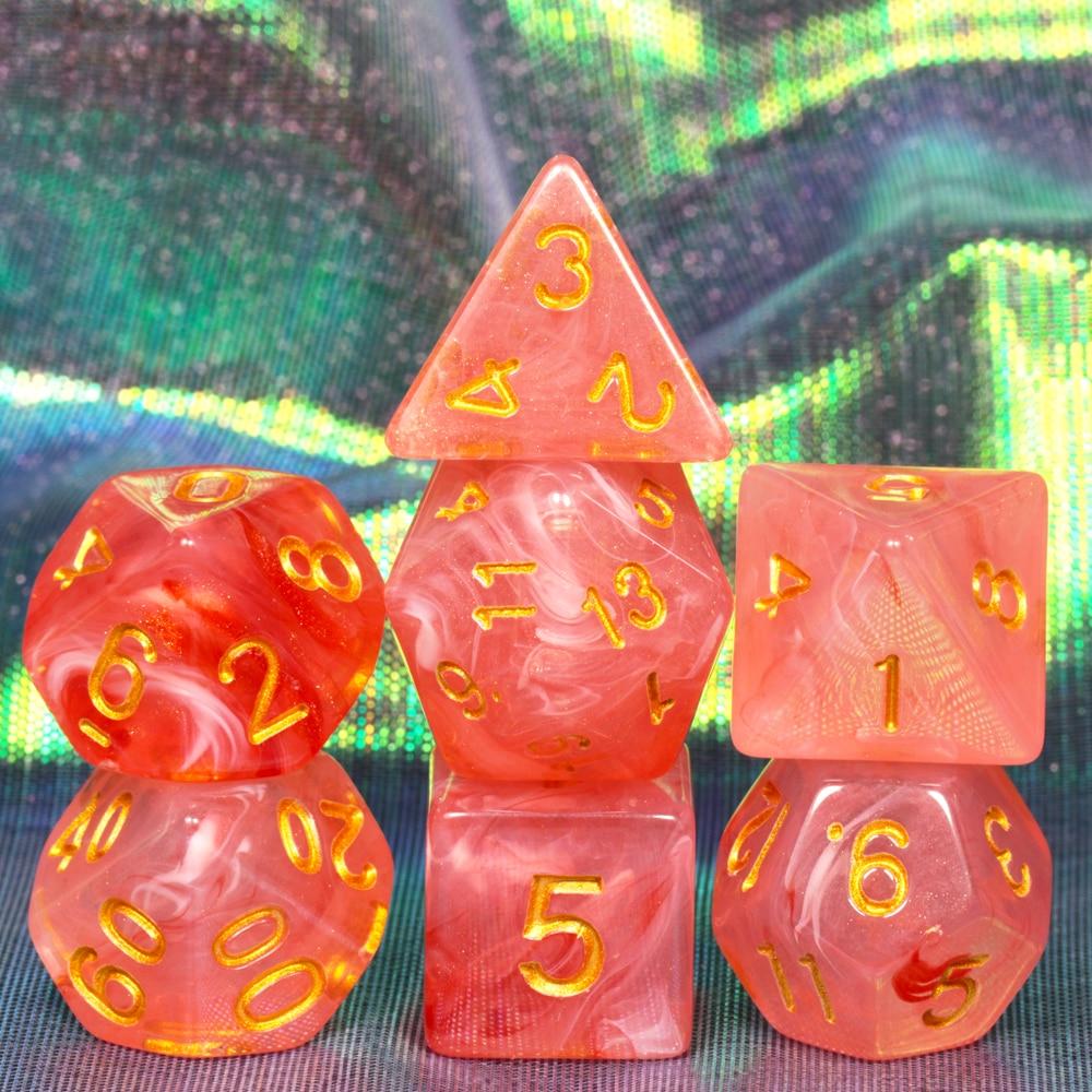 Funny Brand New Nebular Juegos De Mesa Dados Dice Set 7 for D&d Game  D4 D6 D8 D10 D12 D20  DnD RPG Dice Christmas gift