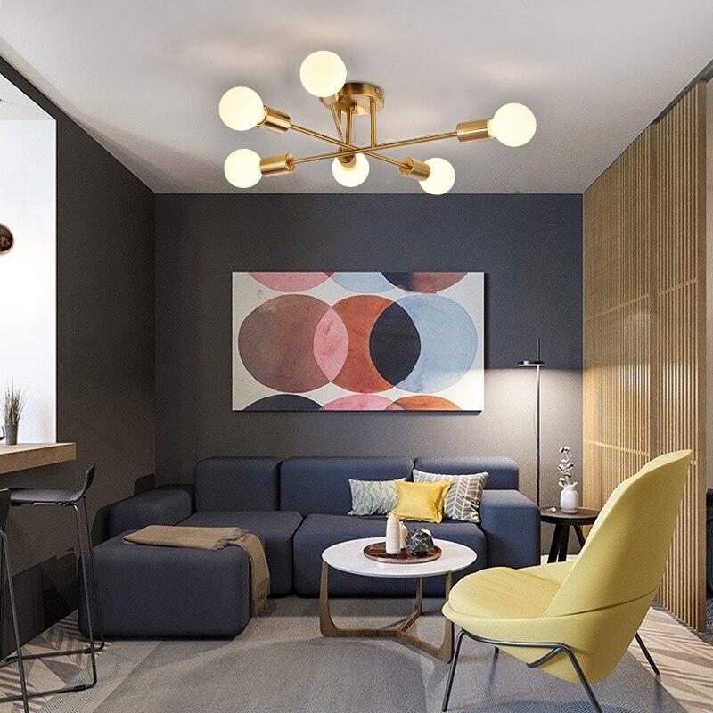 مصباح سقف led معلق على السطح ، مصباح سقف سبوتنيك ، تصميم منتصف القرن ، مثالي للمطبخ أو غرفة المعيشة.