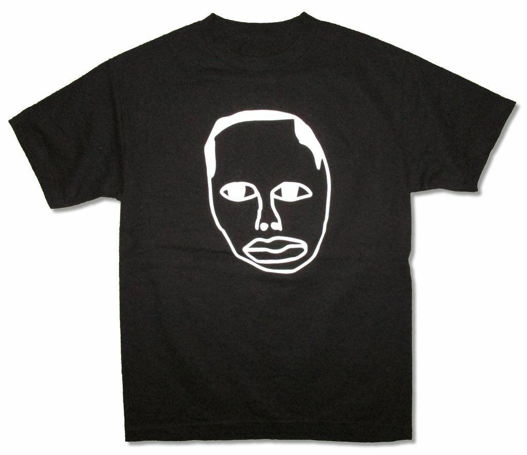 Camiseta negra con imagen reflectante de la cara de la camiseta de la nueva gira oficial 2016