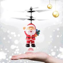 Hand Induction Infrared Sensor Helicopter Drone Santa Claus Flying Vehicle Toy Aircraft Sensor Mini