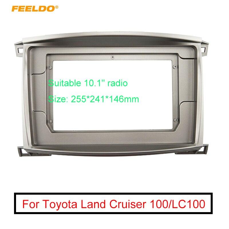 """Radio de Audio para coche, pantalla grande de 10,1 """", adaptador de marco de Fascia 2DIN para LAND CRUISER 100, reproductor de DVD de CA automático, Kit de marco de Panel de ajuste para tablero"""
