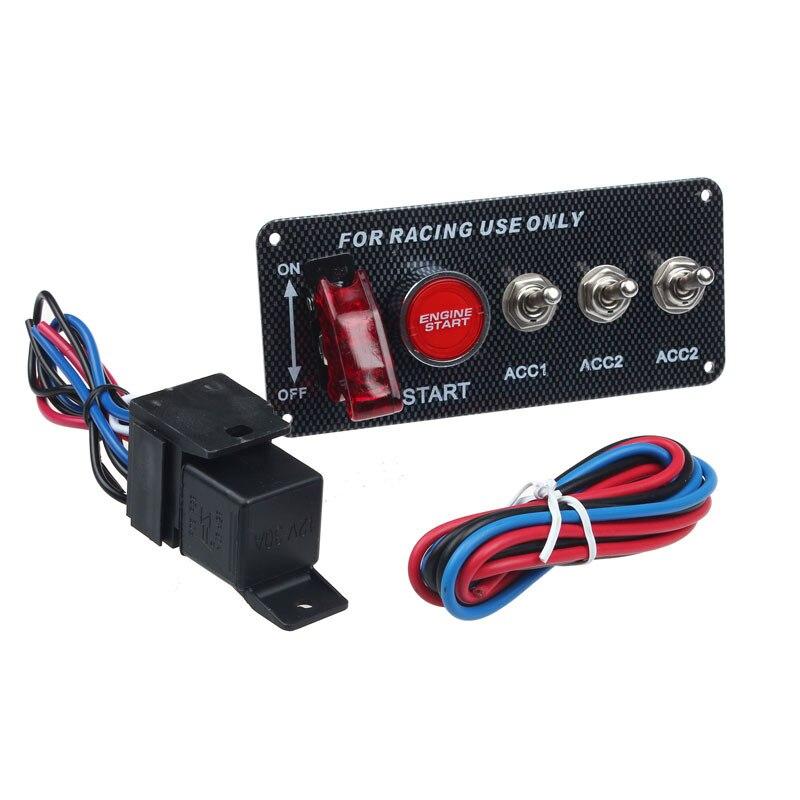 Lgnition Schalter Panel DC 12V 15*6.6*6,3 cm Für Racing Auto LED Toggle Engine Start Push taste Zubehör Dropship автомобильные
