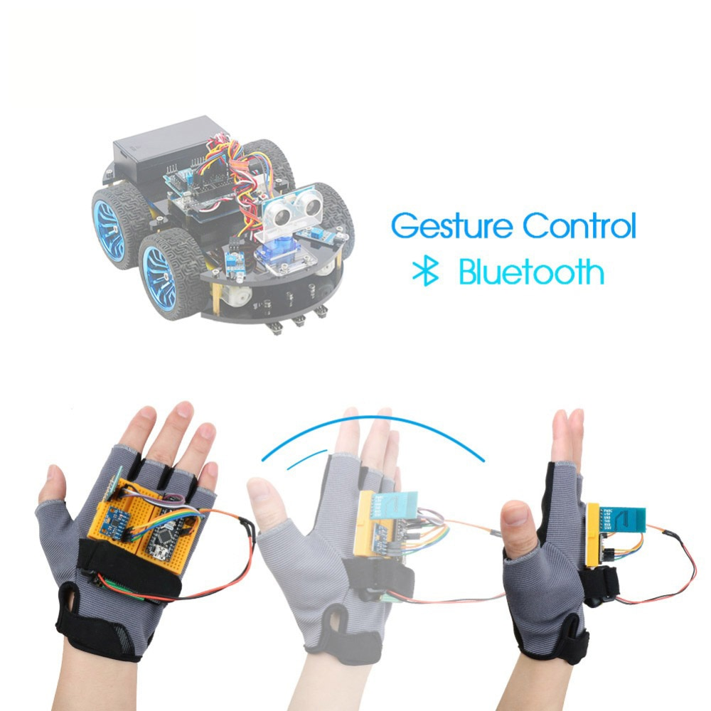 Gesture-Motion Starter Kit for Arduino Nano V3.0 Robot Educational Stem Cars Toys MPU6050 6 Axis Accelerometer Gyroscope Module