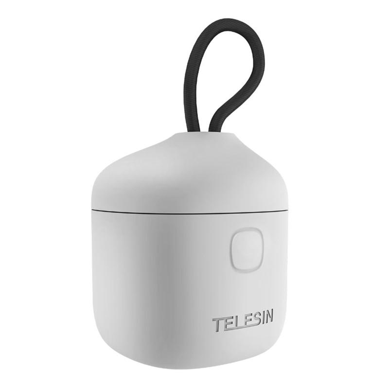 TELESIN بطارية 3 فتحات شاحن TF قارئ بطاقة تخزين صندوق شحن ل Gopro بطل 9