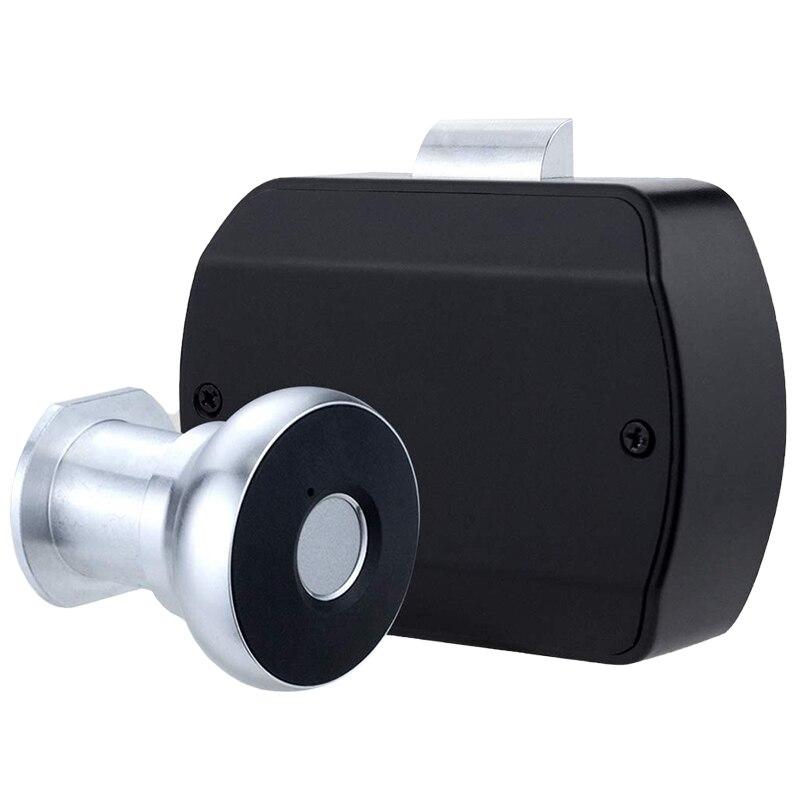 قفل خزانة بصمات الأصابع ، 2 في 1 الذكية أقفال خزانة إلكترونية عدة استبدال ، بدون مفتاح USB قابلة للشحن قفل للدرج