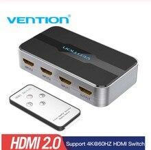 Vention 3 en 1 sortie HDMI commutateur 4K 3D 2.0 HDMI répartiteur pour PS4 TV Xbox PS3 ordinateur portable avec télécommande 2K HDMI adaptateur de commutation