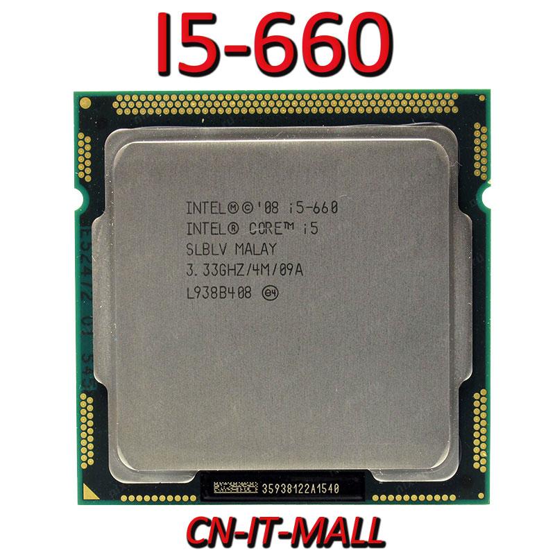 Intel Core I5-660 CPU 3,33G 4M 2 Core 4 hilo LGA1156 procesador