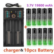 Nuevo 18650 de la batería de 3,7 V 19800mAh DAA201USB. Cargador 1,2 V 3,7 V 3,2 V 3,85 V AA/AAA 18650 de 26650 de 14500 batería NiMH de litio inteligente cargador