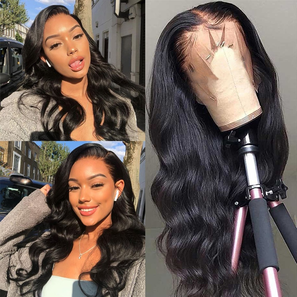 Miss anna 18-32 Inchs Body Wave Lace Front Wig 100% Human Hair Wig 13x4 Frontal Wig Brazilian Remy Lace Frontal Human Hair Wig