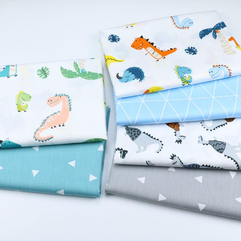 160cm*50cm dinosaur Newborn baby kids Cotton Fabric Printed Cloth Sewing Quilting bedding apparel dress patchwork fabric
