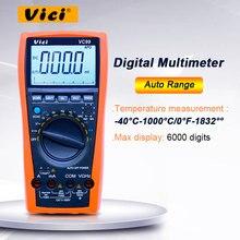 Multímetro digital de rango automático VICI VC99 3 6/7 1000V 20 a CC AC probador de capacitancia de resistencia de corriente de voltaje