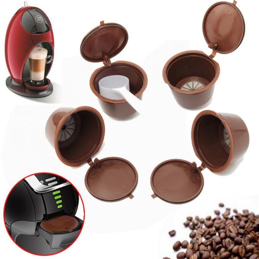 2 unids/set café Cápsula de café reutilizable para todos los modelos Nescafe Dolce Gusto rellenable filtros cestas Pod suave sabor dulce