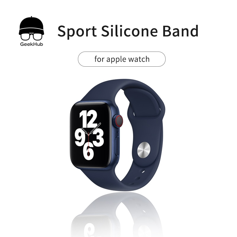 High Quality Silicone Classic Band Loop for Apple Watch 3 SE 6 38MM 40MM 42MM 44MM Pure Color