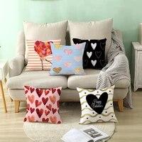 pillowcases valentines day decorative cushion covers peach skin love printing throw pillows cover modern home decor 4545cm 1pc