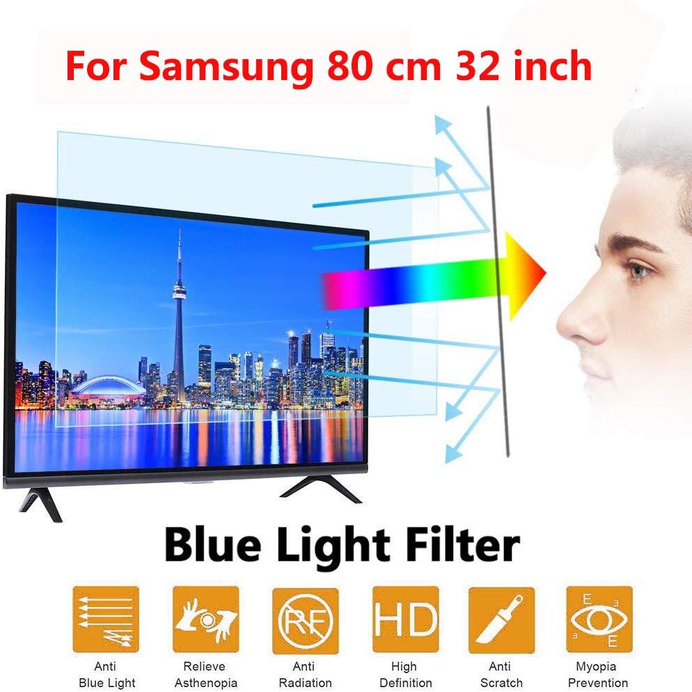 Защита экрана телевизора от синего света для Samsung, 80 см, 32 дюйма, защитная пленка, панель защиты от повреждения, блокирующий фильтр, аксессуар...