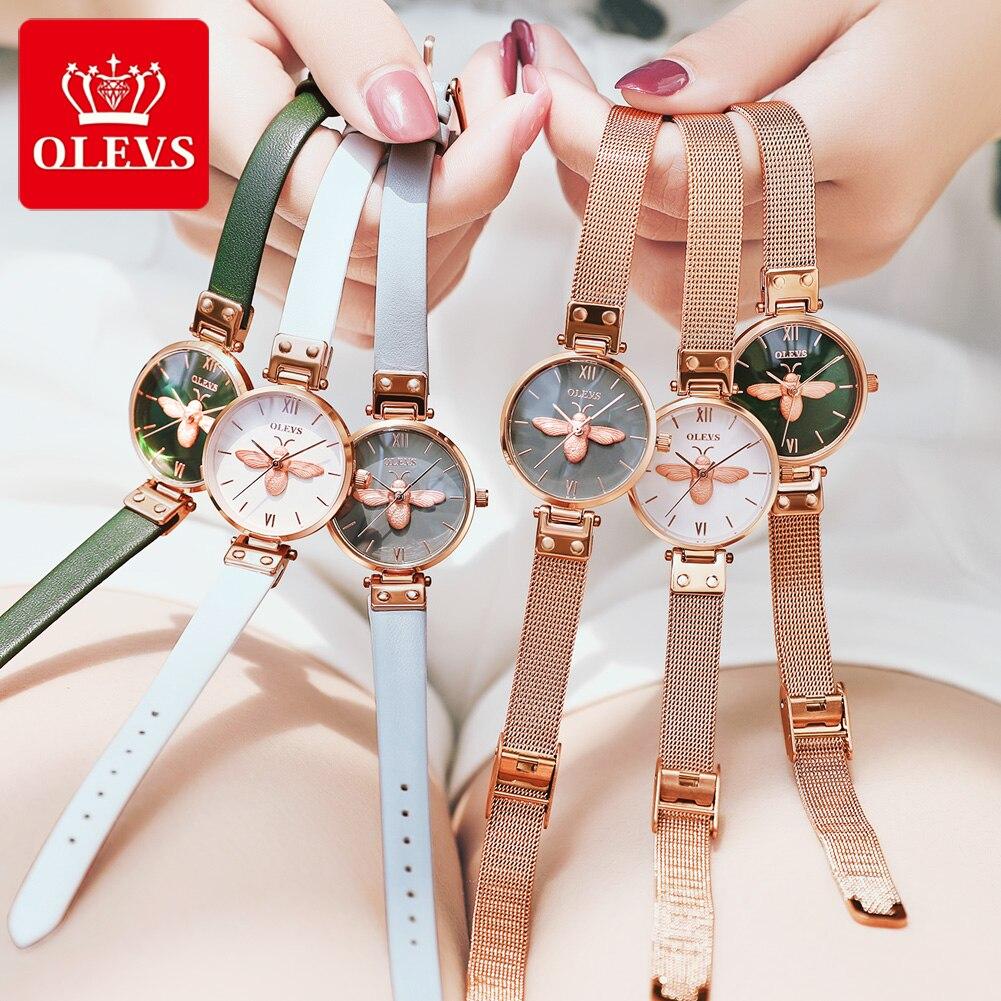 Bee Watch Women's Watches reloj hombre Ladies Fashion Quartz Watch Bracelet Diamond Mesh Luxury Women Watches montre homme gift