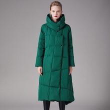 Doudoune femme hiver 2019 90% duvet de canard blanc épaississement col montant ample chaud duvet manteau 199018