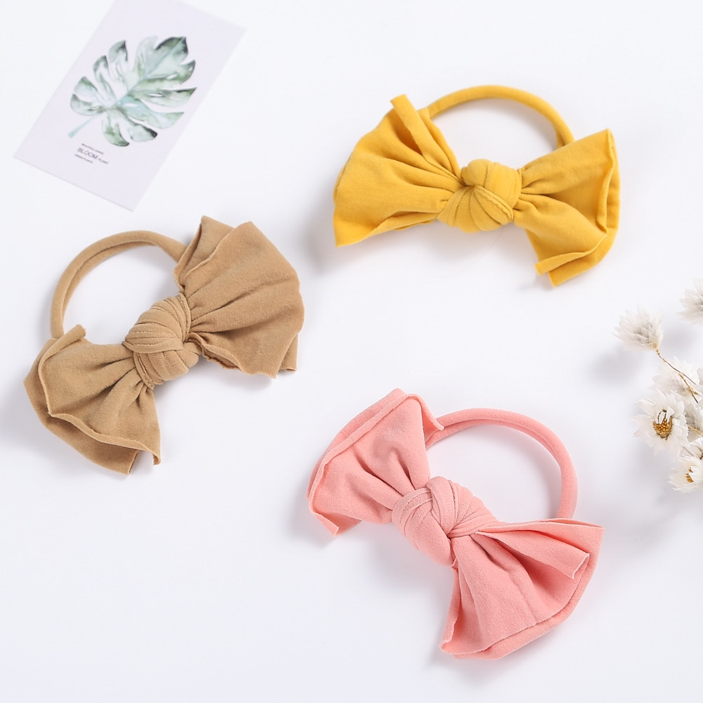 16pcs/Lot Cute Bow Baby Headband For Girl Nylon Head Bands Soft Hair Bands For Children Hairbands For Kids Baby Hair Accessories