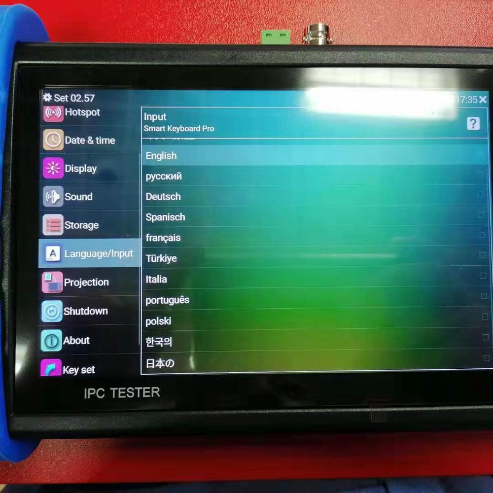 Miracast and airplay 1920*1200HD H.265 4K 8MP IPC/CVBS Camera ONVIF WIFI POE 12V 24V 48V OUT IPC/AHD/TVI/CVI Security Test Tool enlarge