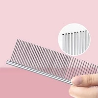 stainless steel grooming comb row comb shumi combined practical comb dog straight comb cat and dog supplies