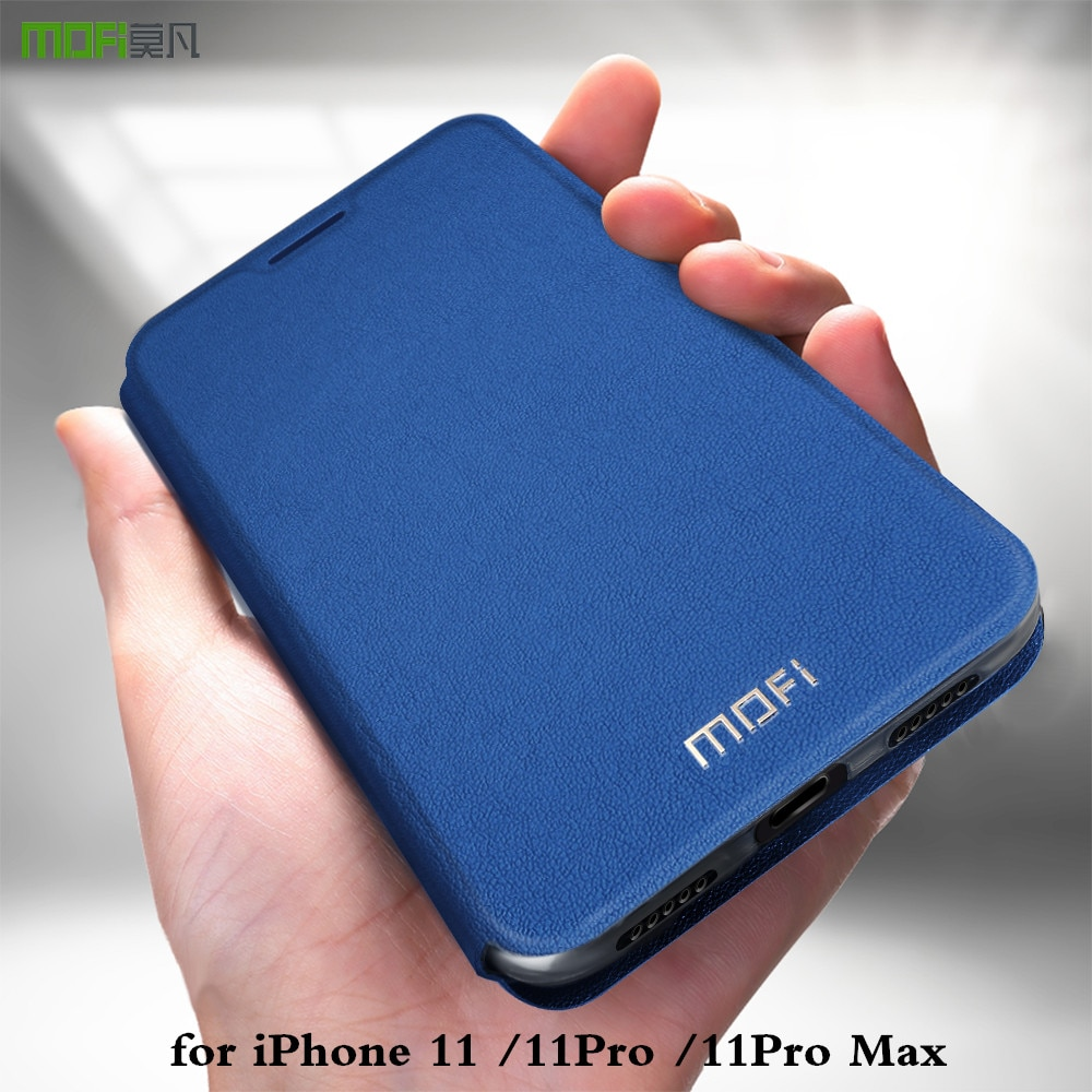 MOFi para Apple iPhone 11 Pro Max funda para iPhone 11Pro 11Pro Max tapa iP 11 carcasa de TPU de cuero de la PU libro Folio