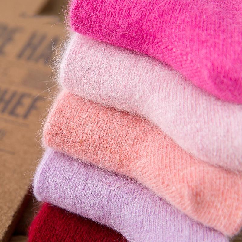 Шерстяные носки, женские толстые зимние носки, модные теплые носки, женские носки большого размера