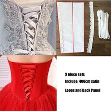 Dress Cord Back Silks and Lace Up beautiful Satin Corset Kit Zipper Replacement Wedding Gown Rope Im