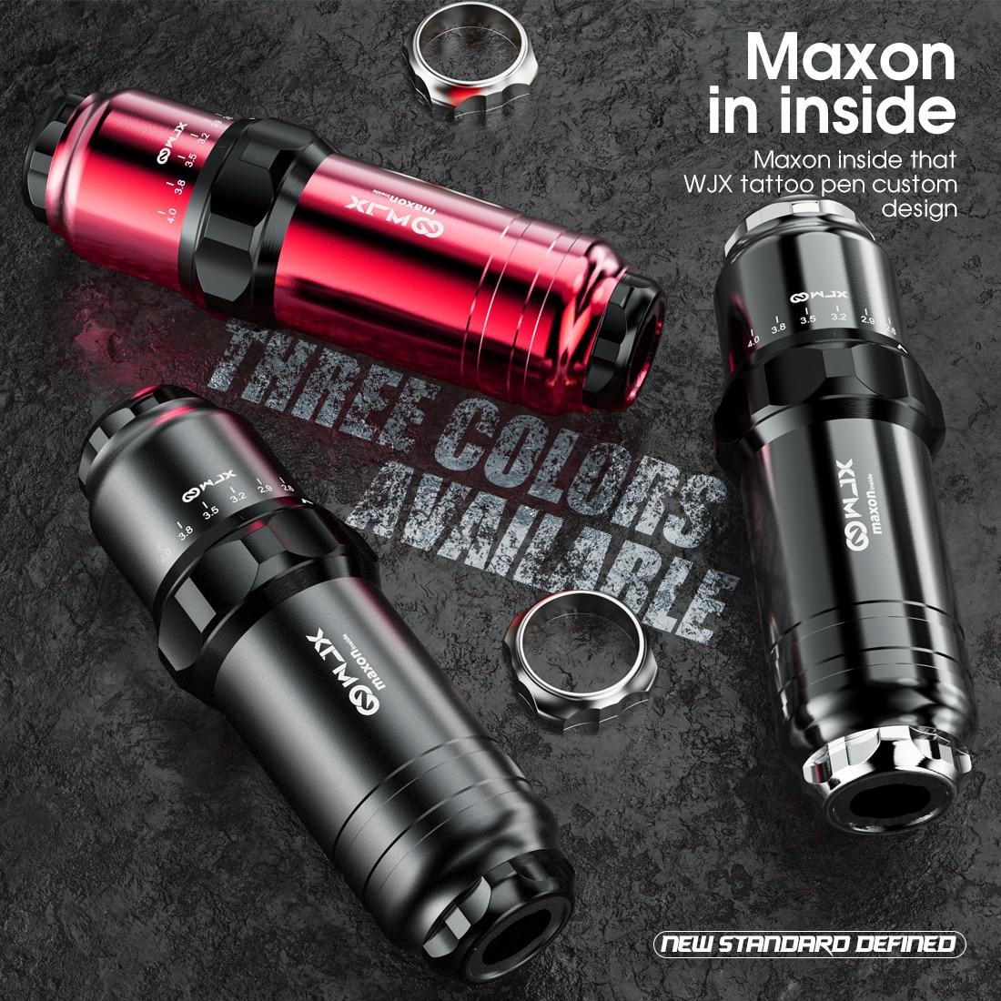 Top Maxon Motor Professional Six Stroke Length Options Rotary Tattoo Machine Permanent Makeup Machine WJX Tattoo Pen