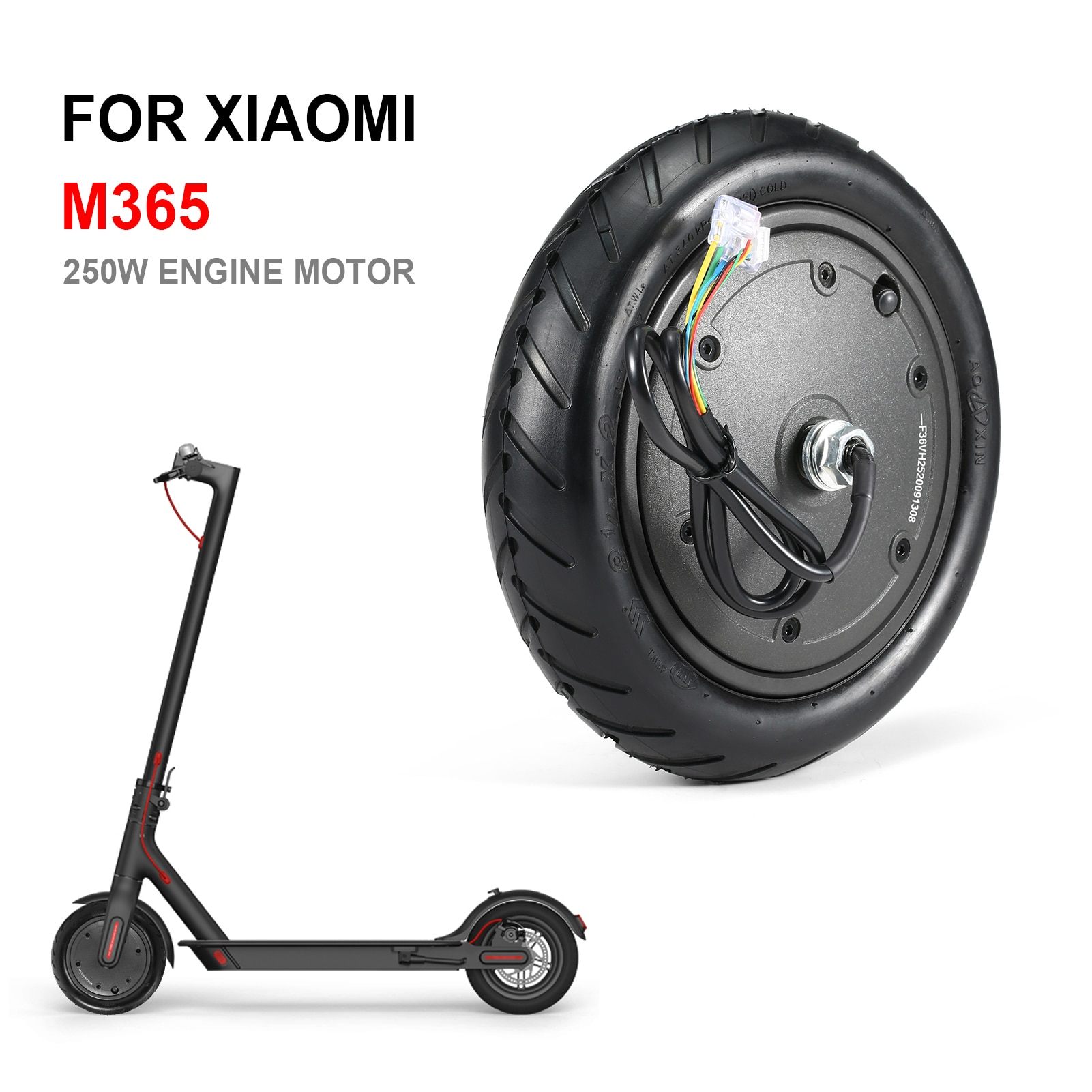 36V 250W محرك موتور ل Xiaomi M365/M365 برو الذكية الكهربائية سكوتر 8.5 بوصة عجلة استبدال أجزاء M365 اكسسوارات
