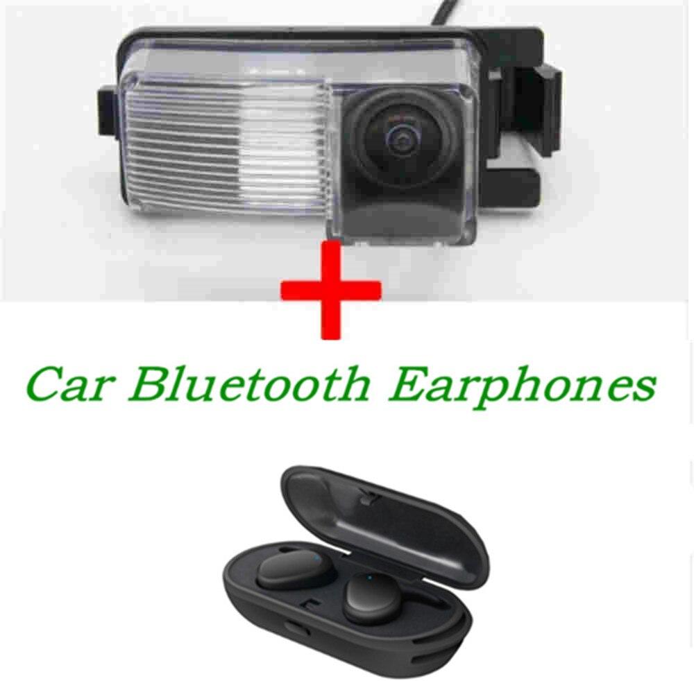 1080P inversa vista trasera de coche cámara para Nissan Geniss Tiida Livina GF-R 350Z 370Z Sentra con HD estéreo TWS auriculares Bluetooth