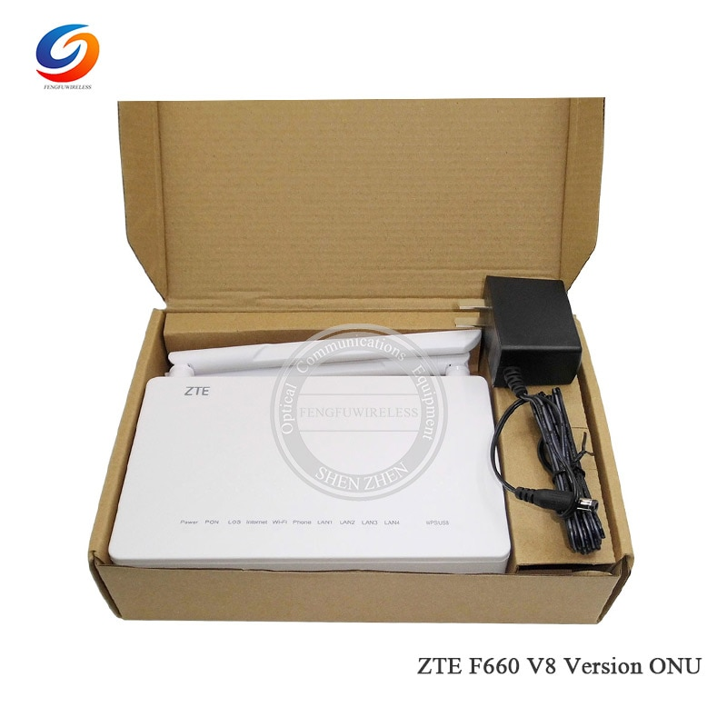 Firmware anglais 2021 nouveauté ZTE GPON terminal ZXA10 F660 V8 8.0 Version GPON ONU ONT 1GE 3FE 5Dbi Wifi externe