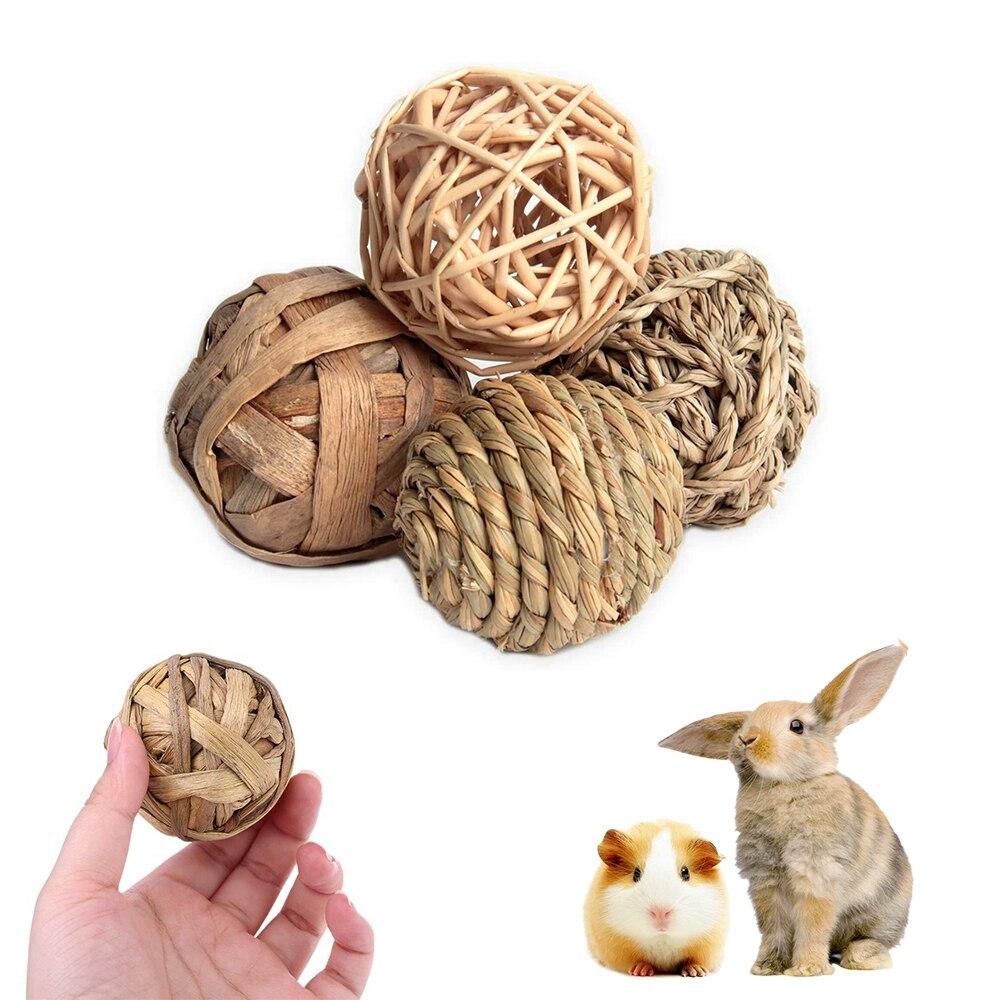 Игрушки-кролики, кролик, соломенный ротанговый Плетеный раньше, кролики, птица, попугай, игрушечные Ротанговые шарики