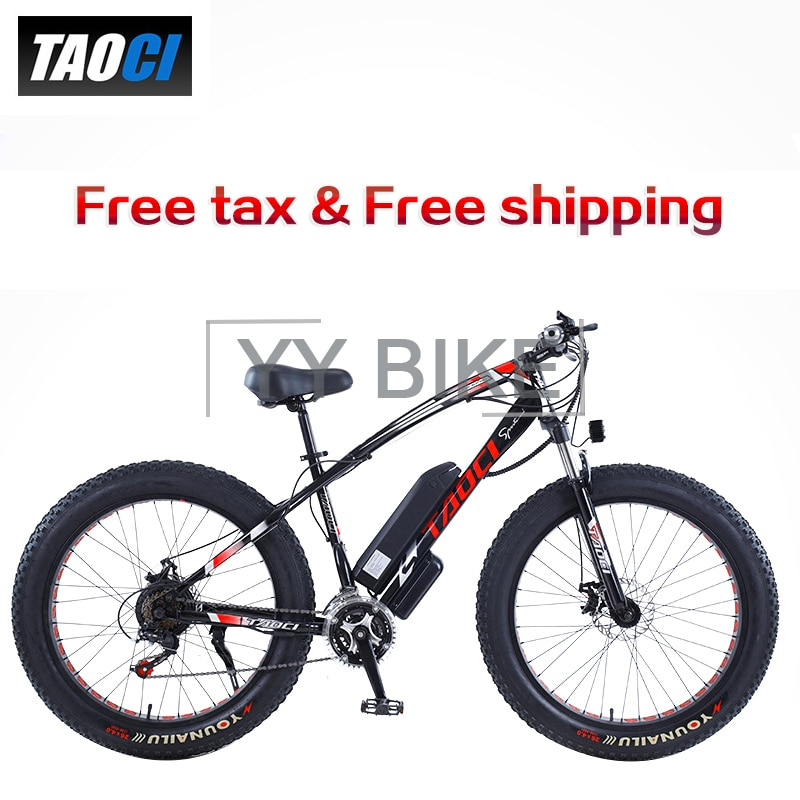 TAOCI 26 بوصة عجلة الكبار دراجة كهربائية 750 واط 48 فولت 13AH 50km/ساعة 21 سرعة جبل الدهون دراجة E-الدراجة الكهربائية الثلوج Ebike