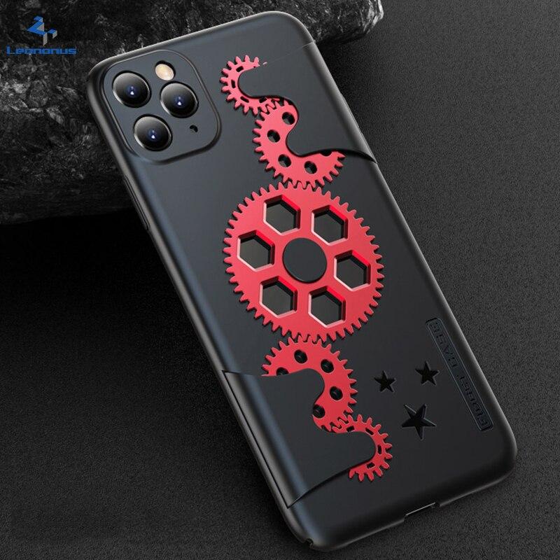 Caixa do telefone da engrenagem mecânica legal para o iphone xs max x xs xr xs max original capa traseira para o iphone 11 pro max x xr ultra fino coque