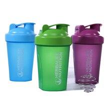 Nouveau 400ML haute qualité Double échelle conception Shaker sport eau bouilloire bouteille avec agitation boule voyage Portable Drinkware tasse