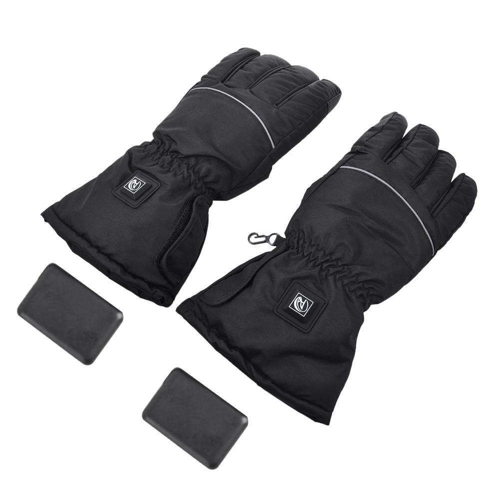 Unisex Heating Winter Gloves Warm Tools USB Interface Black Gloves Waterproof For Ski Motorcycle Riding Outdoor Sports Universal