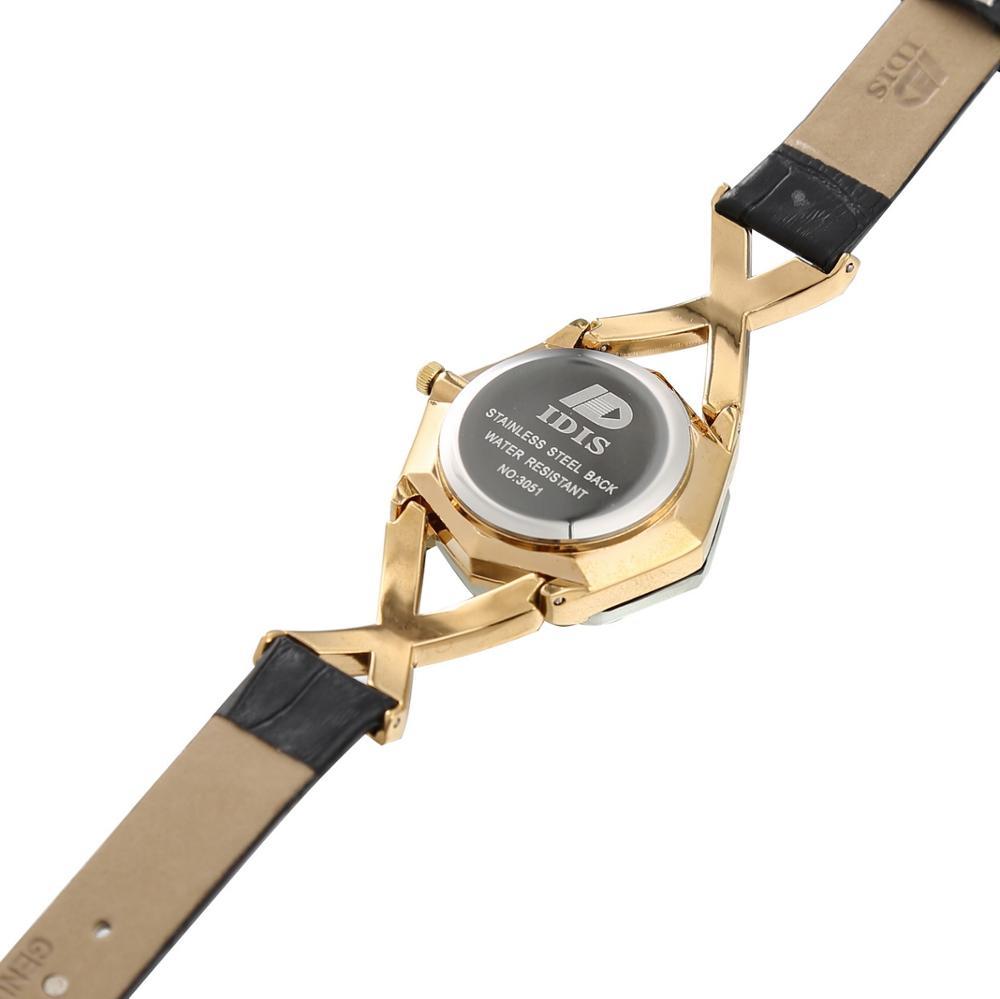 New Logo idis New Style  high quality leather watch fashion quartz women Ladies female student watch fashion designer enlarge