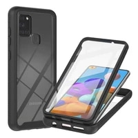 360 full protective phone case for samsung galaxy a02 a12 a21s a217f a31 a32 a42 shockproof cover cases 3 in 1 screen glass film