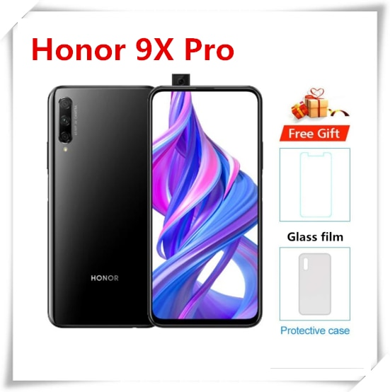 Перейти на Алиэкспресс и купить Оригинальный Смартфон Honor 9X Pro 6 ГБ 256 ГБ Kirin 810 LiquidCool 4000 мАч 48 МП Тройная камера 6,59 дюймAndroid 9,0 4G LTE сотовый телефон