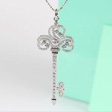2020 neue Kristall von Österreichischen Schlüssel pullover kette Europäischen Halskette frühjahr und sommer Frau Hochzeit schmuck