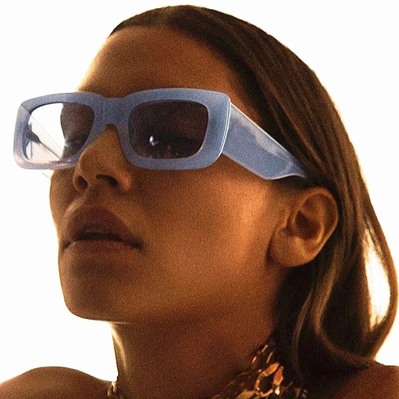 Fashion Women Glasses Square Men Sunglasses 2021 Shades Eyewear Rectangle Eyewear Sun Glasses UV400