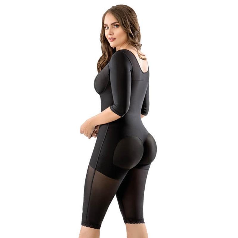 Long Compression Body Shaper With Sleeves 2nd Stage  Postoperative Flat Abdomenfaja Skims Bodysuit