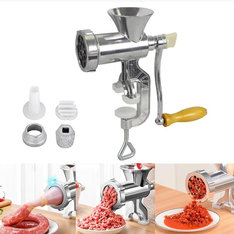 Multifunction Hand Operated Meat Grinder Beef Noodle Pepper Mincer Sausages Maker Gadgets Manual Gri
