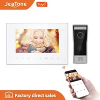 jeatone 7 new tuya wifi monitor video door phone intercom with multi languageremote app controlmotion detectiondouble unlock