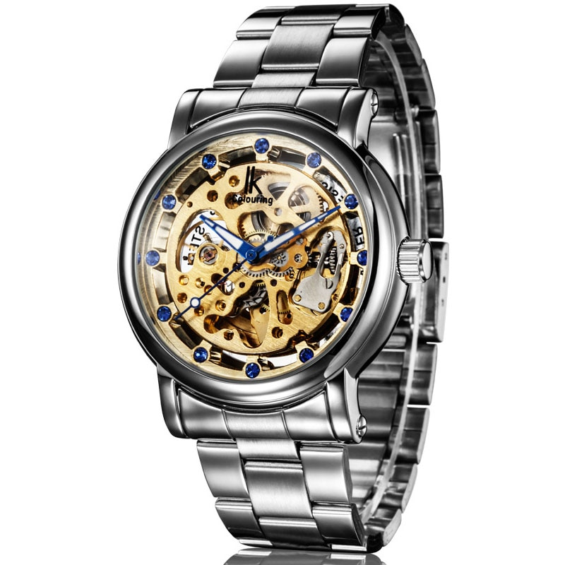 IK Colouring Top Brand Watch Luxury Men Watches Stainless Steel Automatic Mechanical Watches Men Fas
