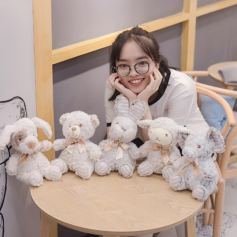 Popular Cartoon Animal doll sheep elephant rabbit bear dog Plush toy appease baby Newborn Doll Child girl sleep Kawaii gift