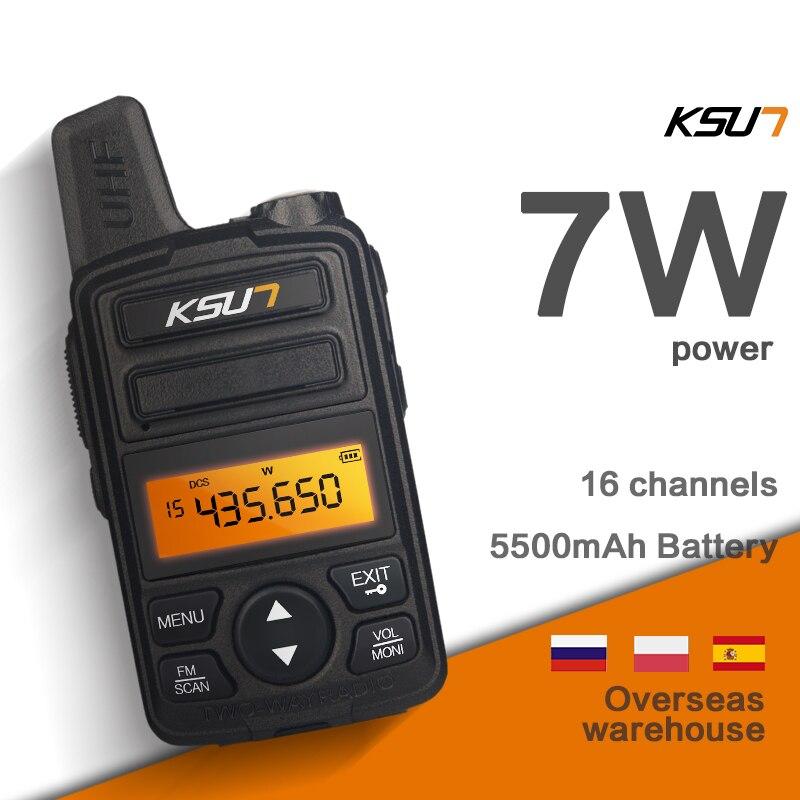 Portable Radio Set KSUN Mini Walkie Talkie UHF Handheld Two Way Ham Radio Communicator HF Transceiver Amateur Handy