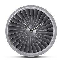 Jet Engine Turbine Fan Motor Printed Acrylic Wall Clock Airplane Wall Art Timepiece Aviation Decor Jet Artwork Pilot Wall Watch